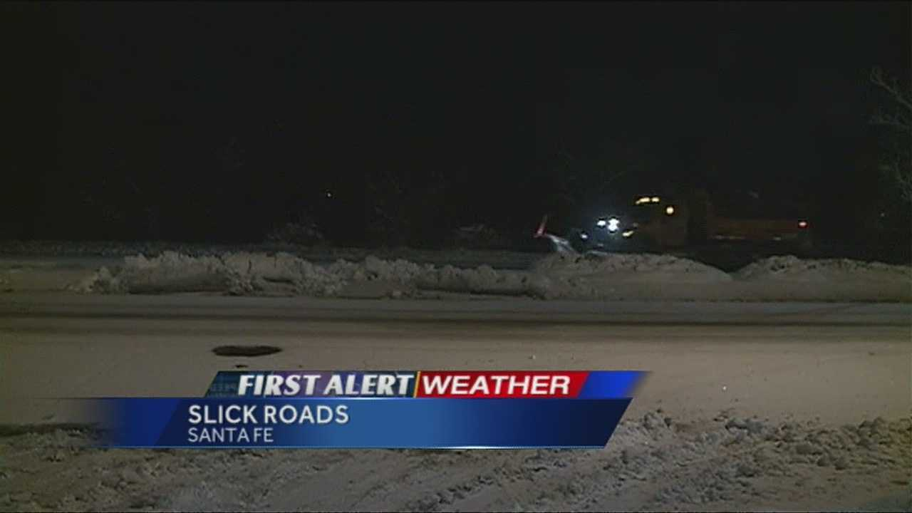 Reporter Alana Grimstad shows us the latest weather and road conditions in Santa Fe.