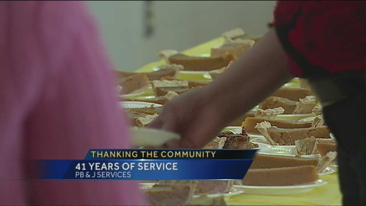 Hundreds were able to celebrate Thanksgiving early thanks to PB&J Family Services.