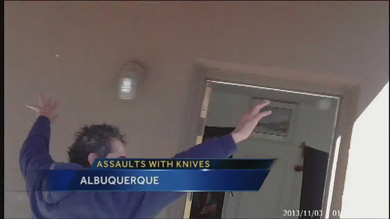 It was a tense moment in a northeast Albuquerque neighborhood earlier this month as the Patrick Chavez threatened people with a large knife.