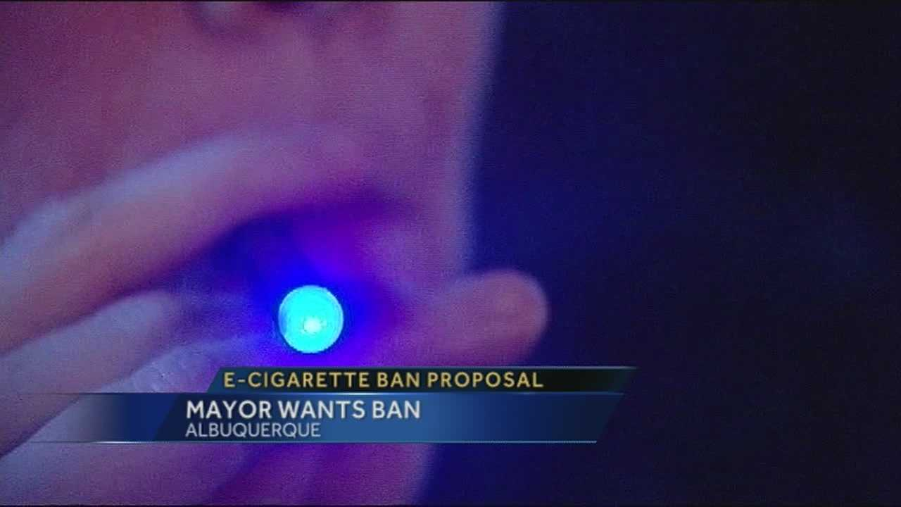 Mayor Richard Berry said it's time to outlaw selling e-cigarettes to children.