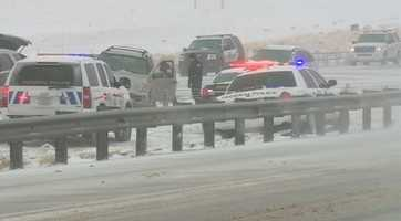 Interstate 25 northbound was closed at the San Felipe Casino after a severe motor vehicle crash Thursday.