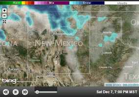 Some areas of the state could pick up about 1 foot of snow, particularly near the Colorado state line.