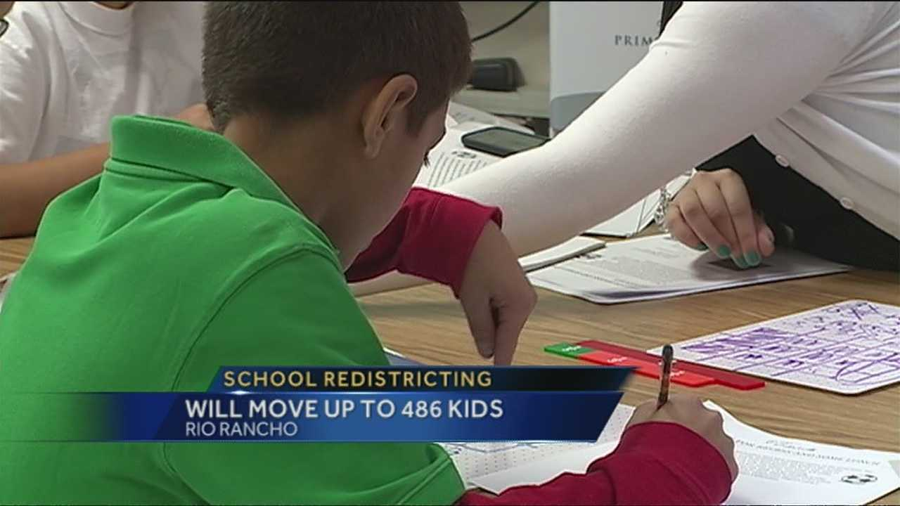 The elementary schools in Rio Rancho are planning to redistrict and move up to 486 students to new schools.