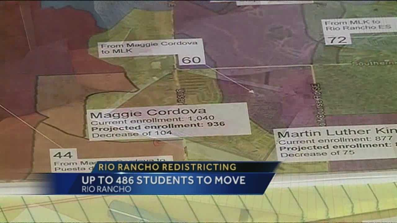 New lines are being drawn in Rio Rancho, and it could mean nearly 500 students, have to change schools.