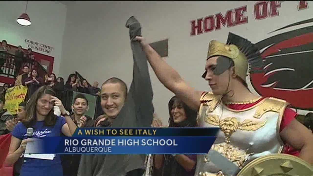 An Albuquerque high school transformed into Italy today and it was all for one of its students.