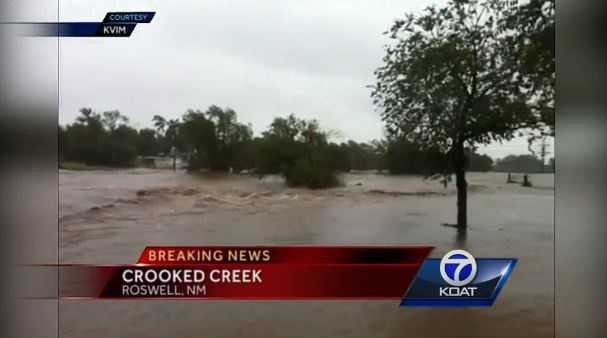 VIDEO: Rain slams Roswell, N.M. | Rain is started to lighten up in southern New Mexico, but the damage is already done according to Eric Green.