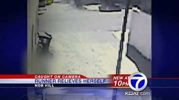 VIDEO: Runner poops in yard | A woman runner is caught on security camera relieving herself next to a house in Albuquerque and it's not the first time.