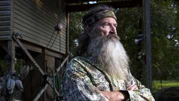 8. The news of Duck Dynasty star Phil Robertson's suspension for comments about homosexuality was a hotly debated issue. CLICK HERE to read more