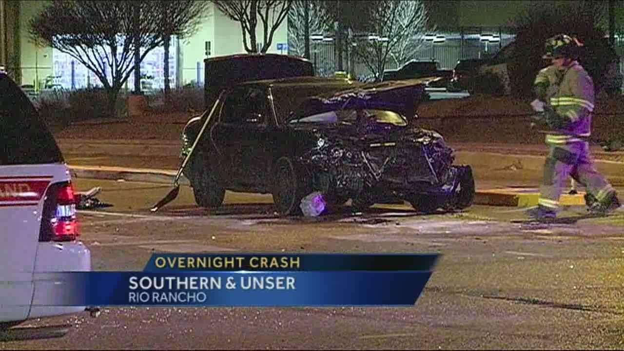 Two people are critically injured in a crash off Southern and Unser