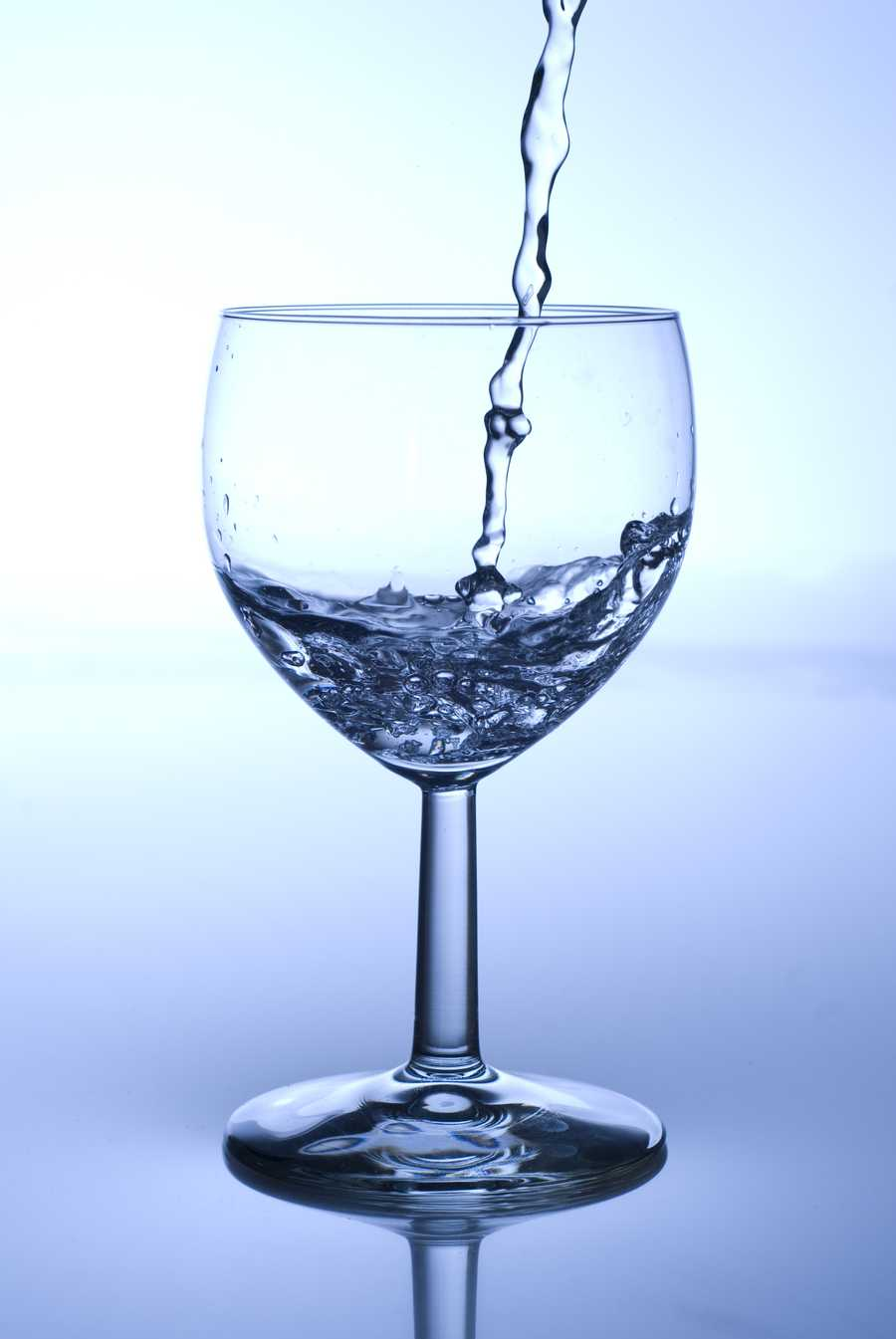 If you drink two glasses of water before meal, you won't be so much and you're less likely to trigger a high blood sugar, which tends to increase your appetite.