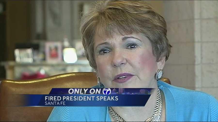university president fired sex