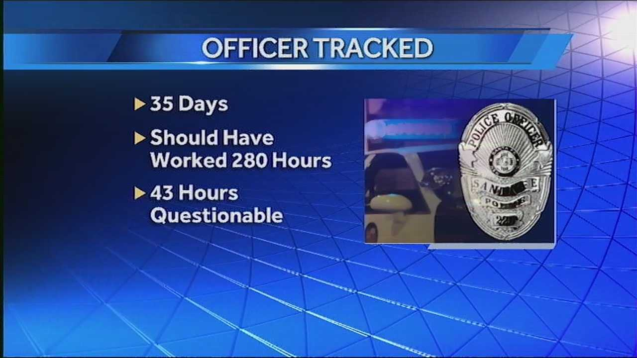A former Santa Fe police officer is suspected of cheating taxpayers out of work. He maintains he did nothing wrong.