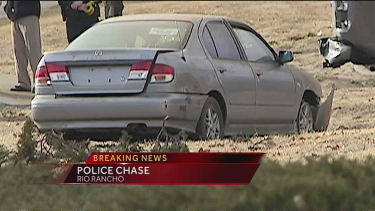 Officers needed gunfire to end a police chase that started in Albuquerque and ended in Rio Rancho.