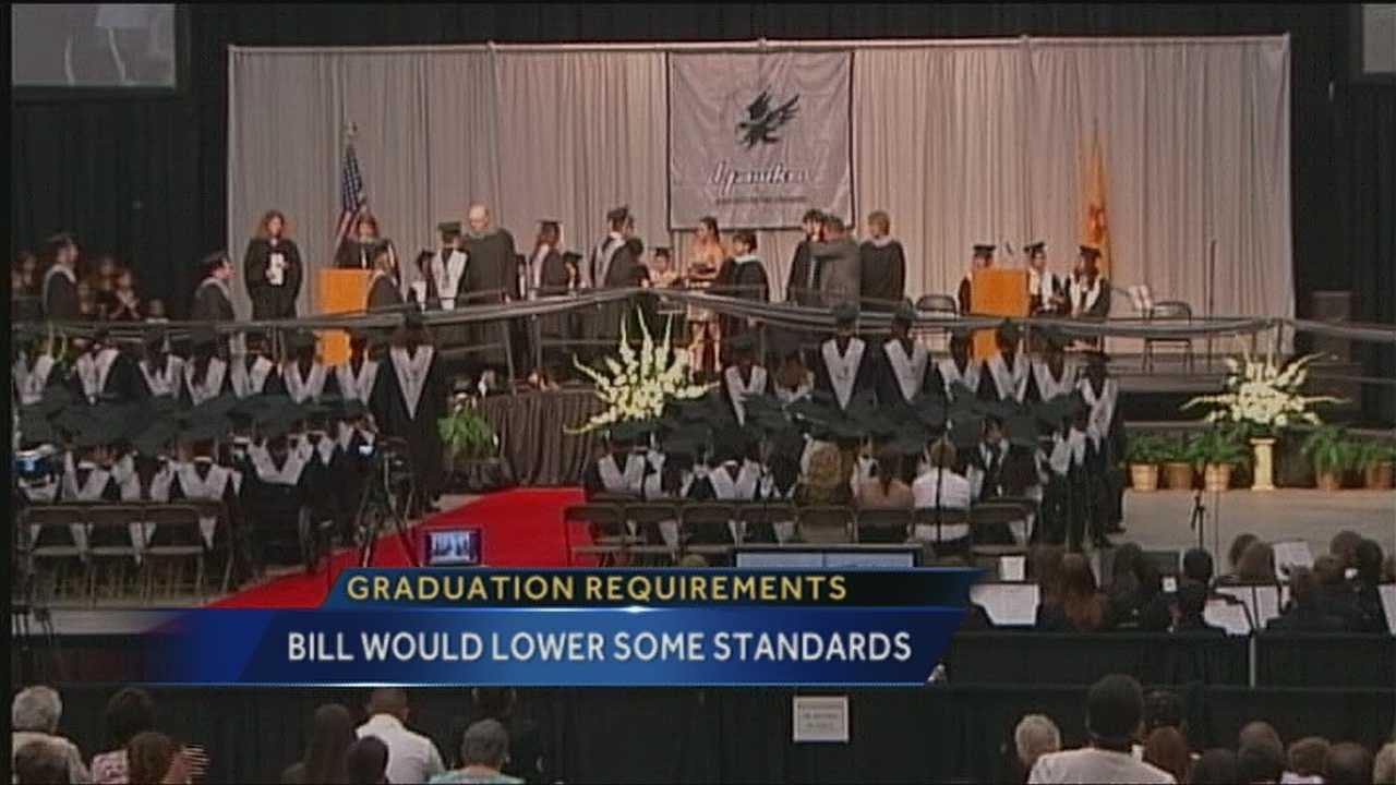 It may soon become easier to get a high school diploma.  A Stare Rep is proposing a change to some of the graduation requirements.