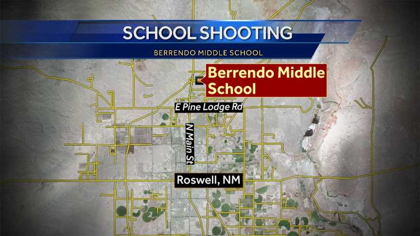 Police have locked down Berrendo Middle School in Roswell after a shooting Tuesday morning.