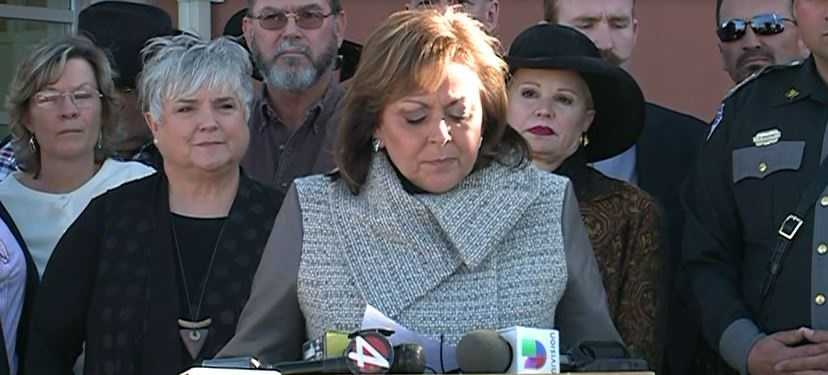 "Gov. Susana Martinez: ""A student walked into the school this morning, and while students were gathered in the gym because of the weather, this individual opened fire on the audience that was in the gym."""