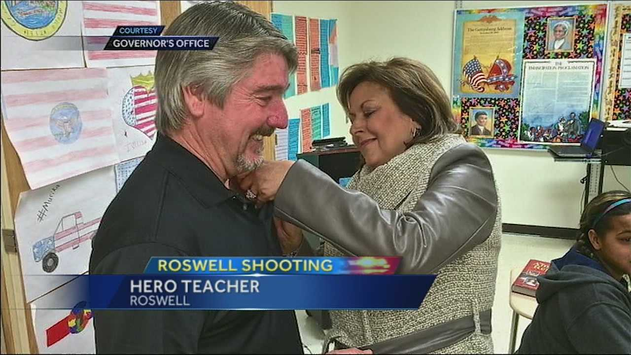 John Masterson is being hailed as a hero after a school shooting in Roswell Tuesday. He says the students never really panicked.