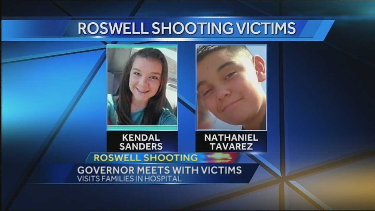 The 12-year-old boy shot by a shotgun in this week's Roswell school shooting has been identified as Nathaniel Tavarez, according to Gov. Susana Martinez.