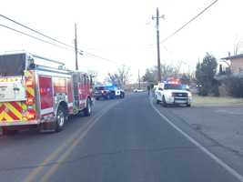An officer was injured Tuesday morning in a crash in Corrales.