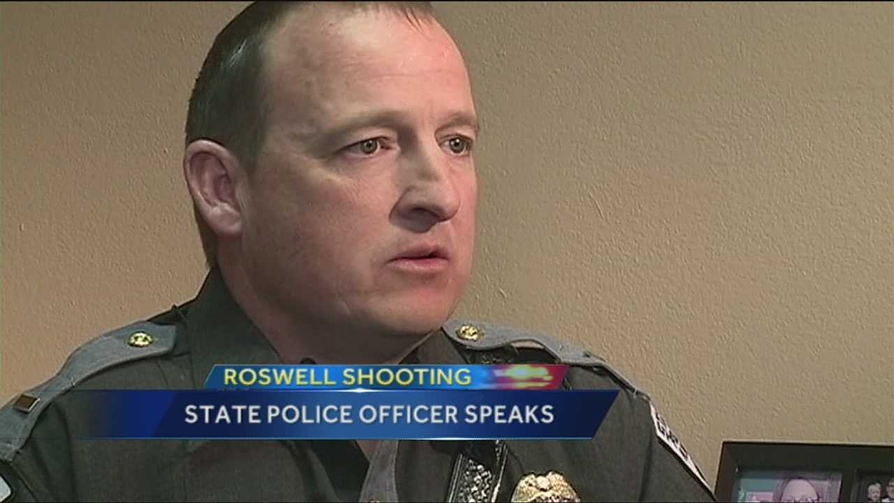 New Mexico State Police Lt. Gary Smith looked into the eyes of the Roswell school shooting suspect right after he put the gun down.