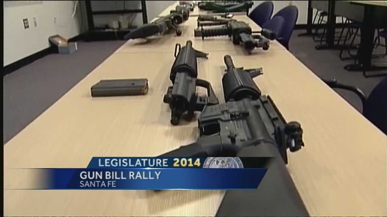 New Mexicans rally for gun-buyer background checks