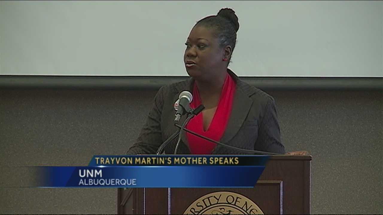 Trayvon's Mom at UNM