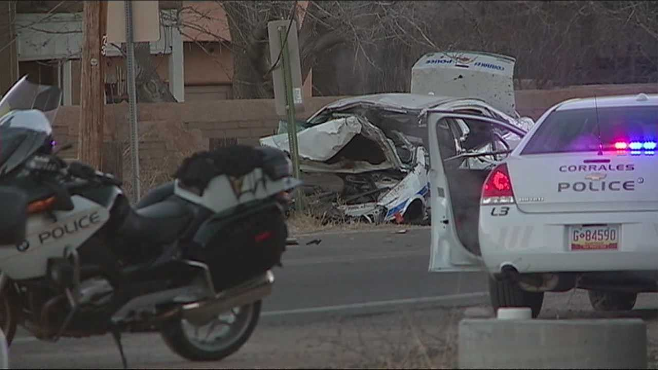 New information tonight on the officer, seriously hurt in a crash in Corrales.