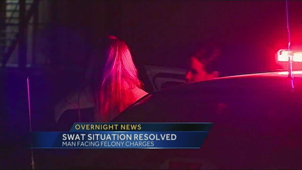 An overnight swat situation has ended
