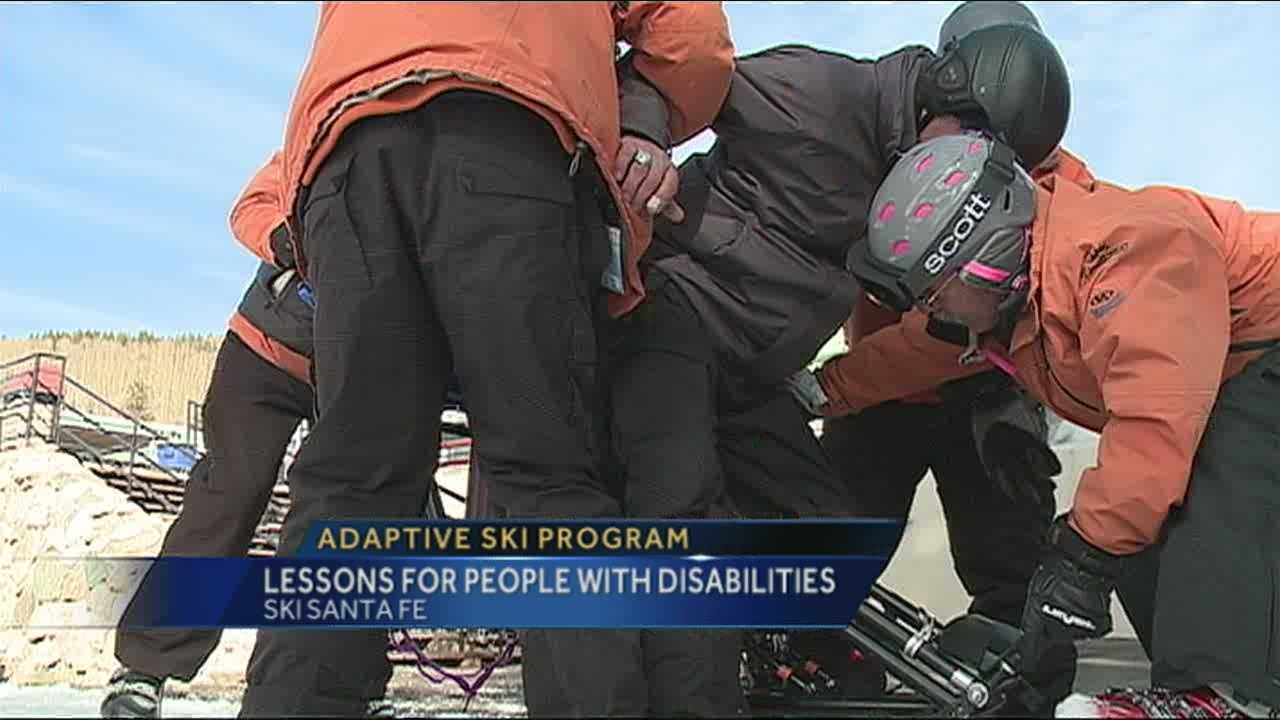 Thanks to donations, volunteers, the support of ski Santa Fe, and Sandia Peak...the Adaptive Ski Program is in its 29th year teaching people with a disability or critical illness how to slide down the slope.
