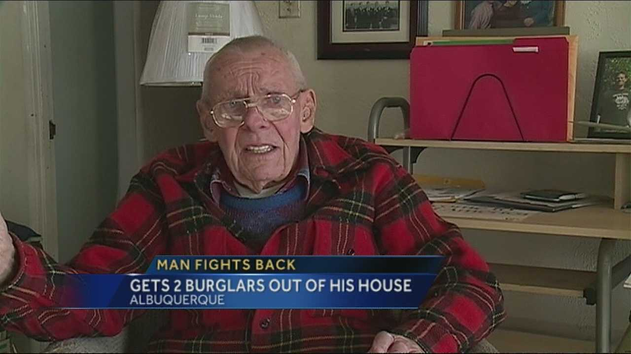 An 84-year old Albuquerque man fought back against two violent criminals.