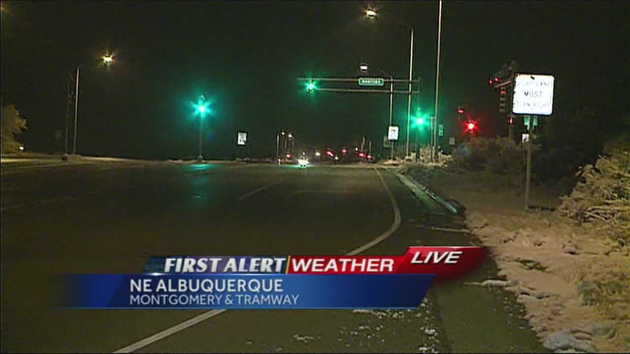 Angela Brauer provides a live look at the road conditions this morning