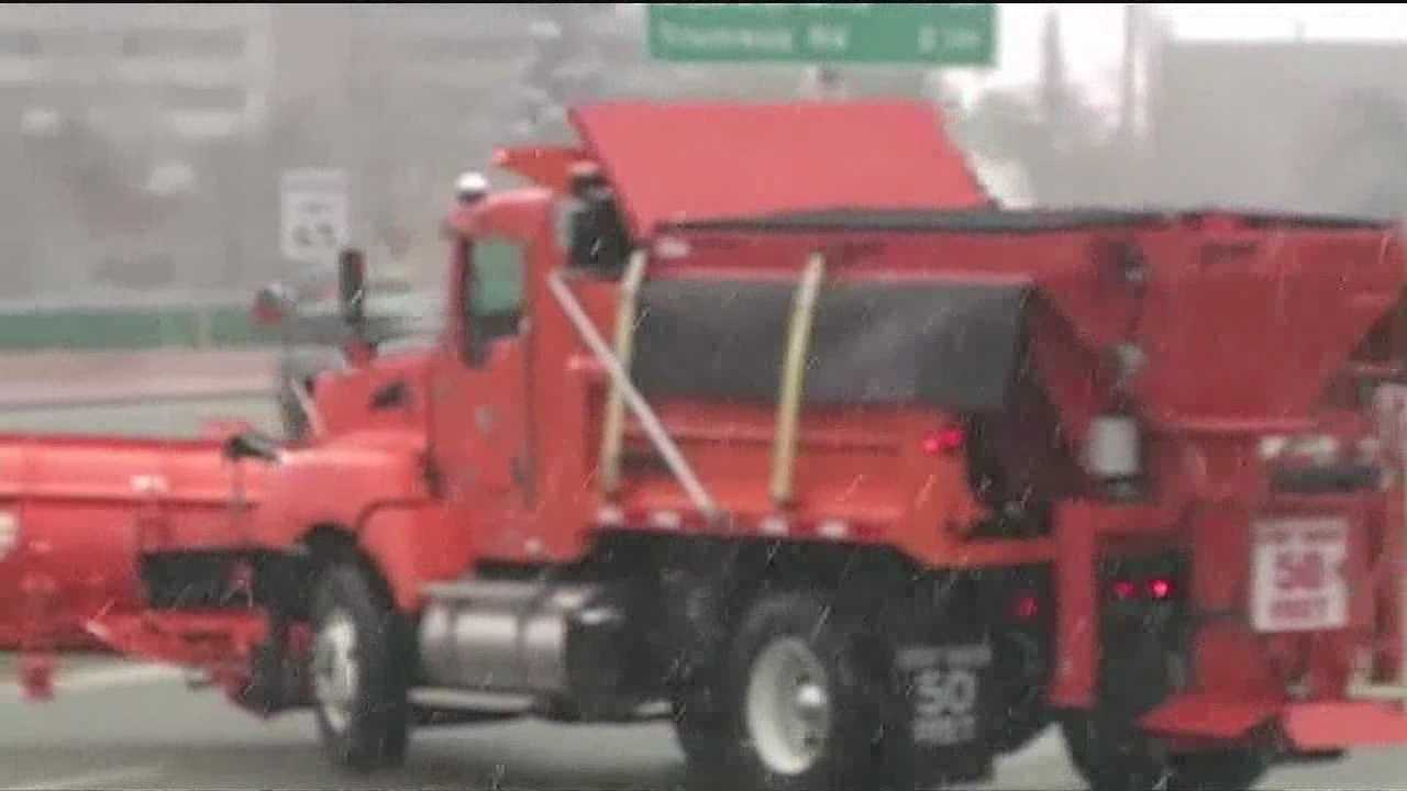More than 40 NMDOT trucks ready to sand slick roads