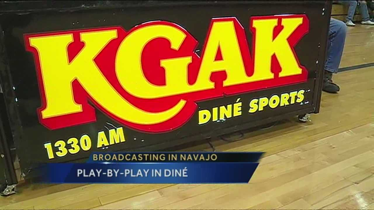 For most places outside the big cities of New Mexico, high school sports reign supreme, especially throughout Native American communities, and one sportscaster is spreading the word through the Navajo language.