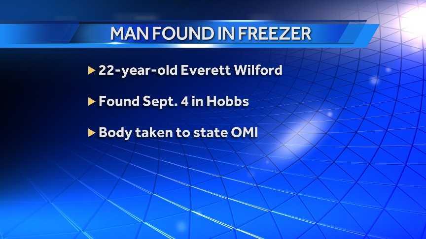 Hobbs man found in freezer
