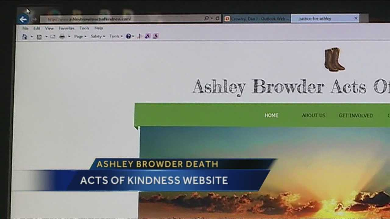 Ashley Browder's Family created a website to share acts of kindness