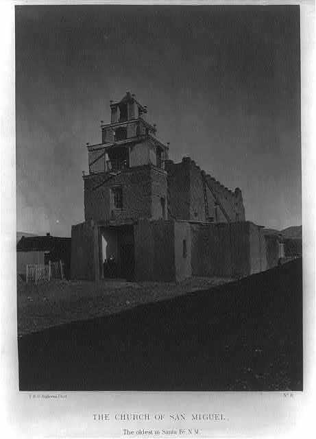 The Church of San Miguel in 1873, the oldest church in Santa Fe, N.M.
