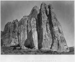 South side of Inscription Rock in N.M. in 1873