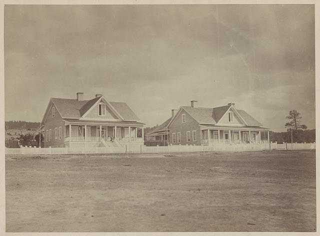 Officers' quarters in Fort Wingate in 1873