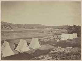 Survey Camp near Fort Wingate in 1873