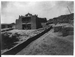 Old Mission Church, Zuni Pueblo in 1873