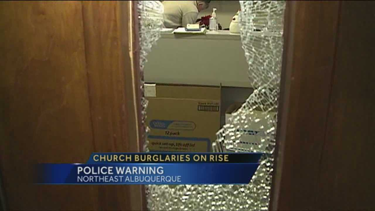 Burglary on rise at Albuquerque churches, police say