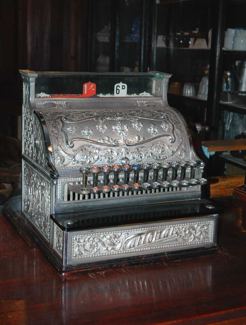 The mechanical cash register was invented in 1879 by James Ritty.
