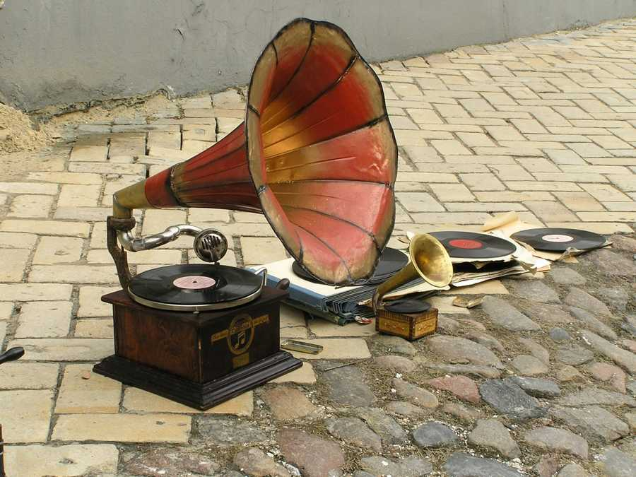The phonograph was introduced in 1877.