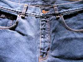In 1873, Levi Strauss and Jacob Davis patented the idea of using copper rivets at the stress point of sturdy work pants, thus making the first blue jeans.