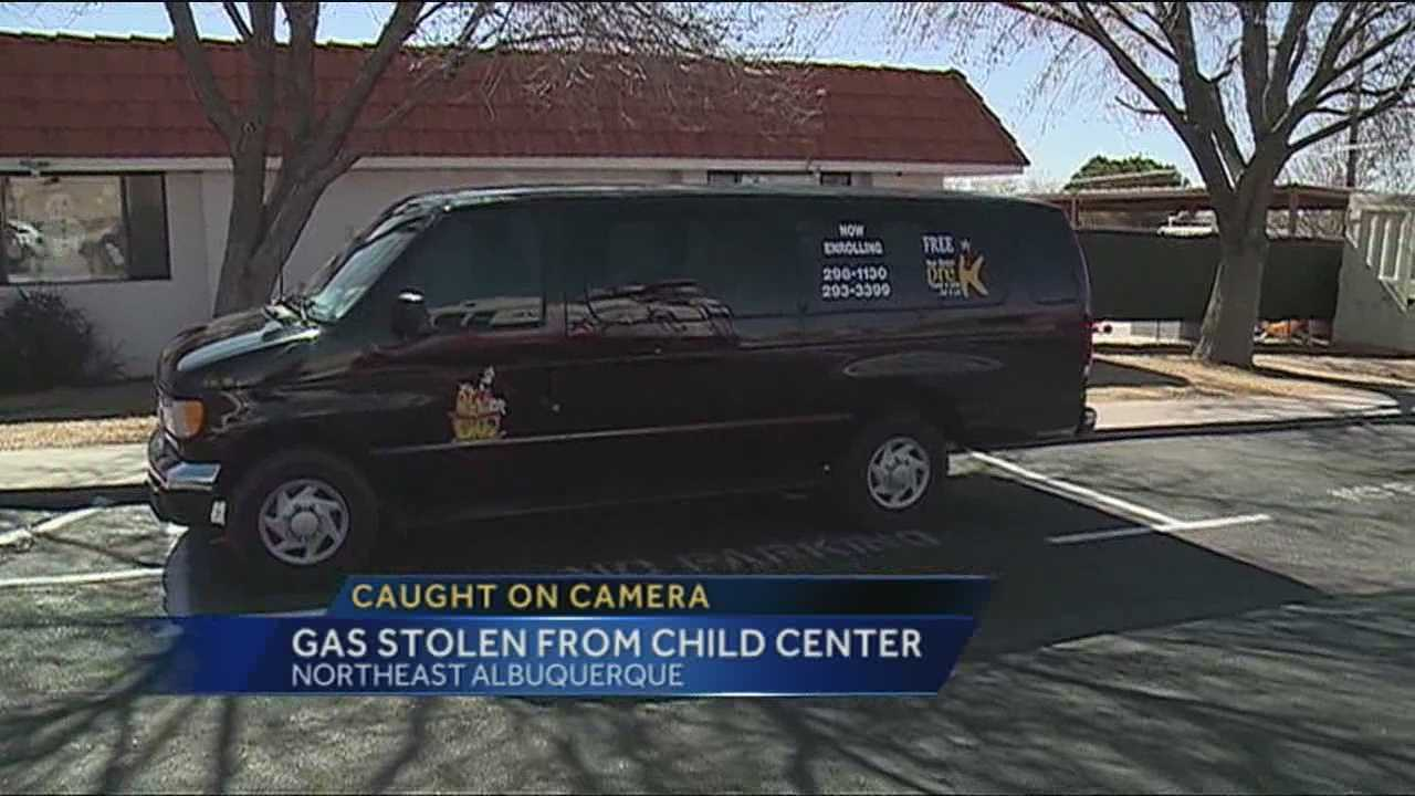 A child care center needs your help to catch who they say are gas thieves.