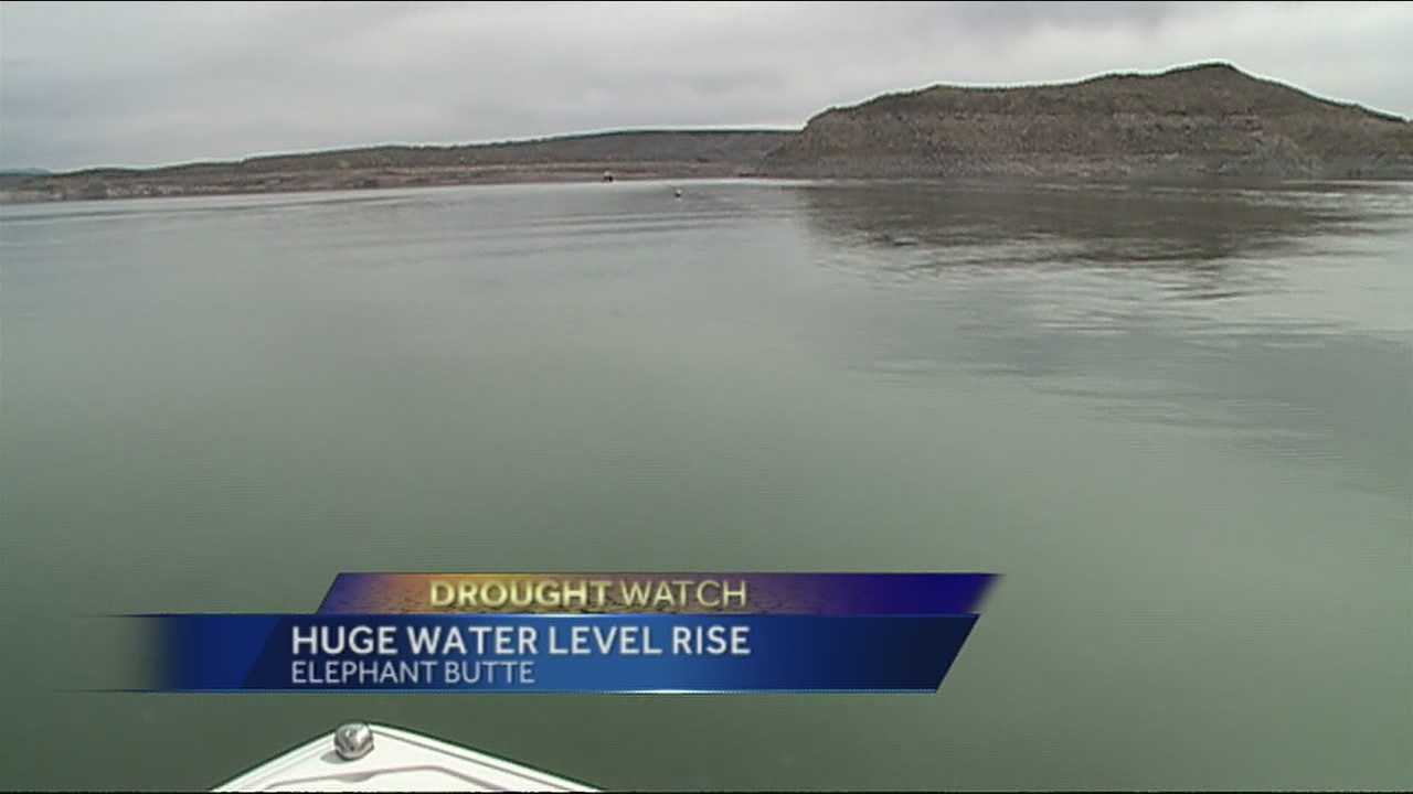 While drought conditions continue to worsen, there's a bit of a buzz developing around Elephant Butte's water level.