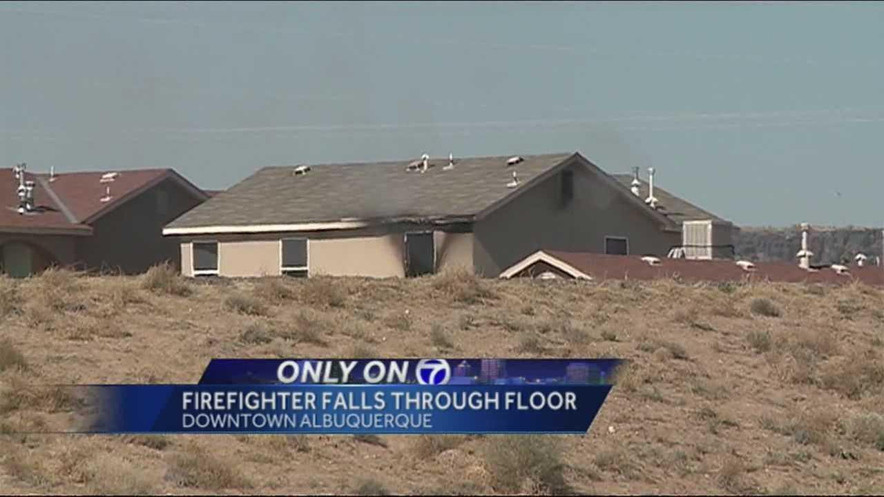 Firefighter Falls Through Floor