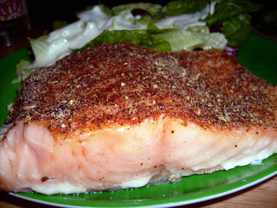 Heart-healthy fish: Make sure to eat heart-healthy at least twice a week like salmon, cod, tuna or halibut.