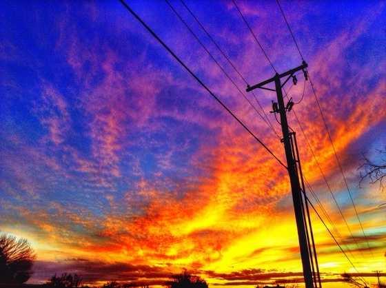 Rainbow SunsetA beautiful sunset in New Mexico.