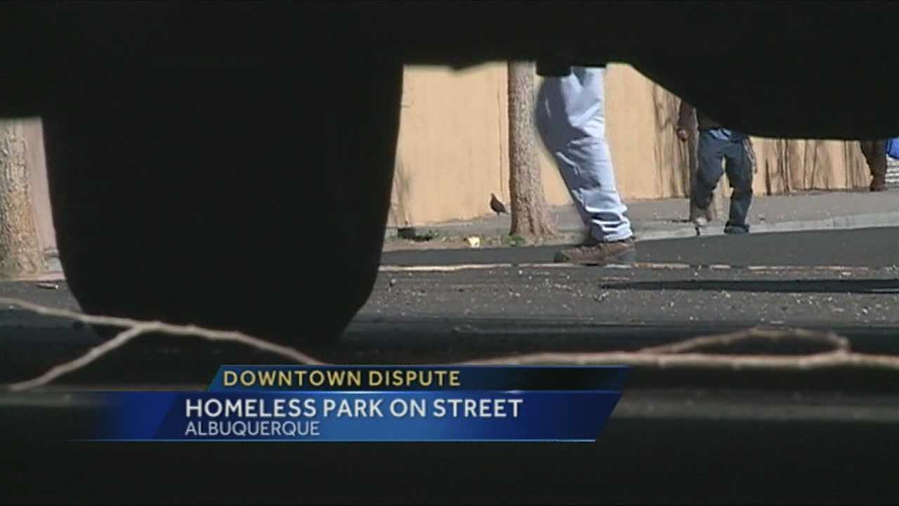 A fight over turf downtown.  Homeowners say the homeless people are using their street as an RV park, living out of their vehicles.  But some of them tell us they have every right to park overnight.